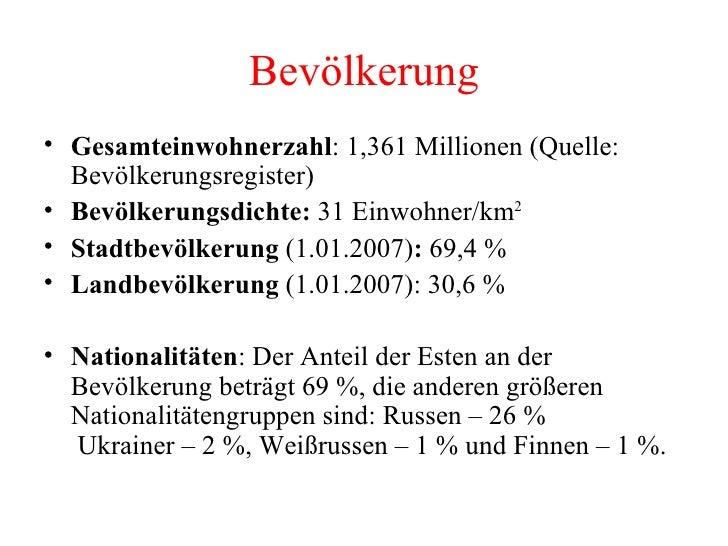 Bevölkerung <ul><li>Gesamteinwohnerzahl : 1,361 Millionen (Quelle: Bevölkerungsregister)  </li></ul><ul><li>Bevölkerungsdi...