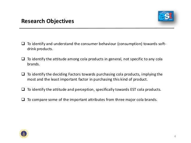soft drink specific objectives Setting objectives in most businesses, the owners decide on the objectives for the business  specific: clearly state what is to be achieved,.