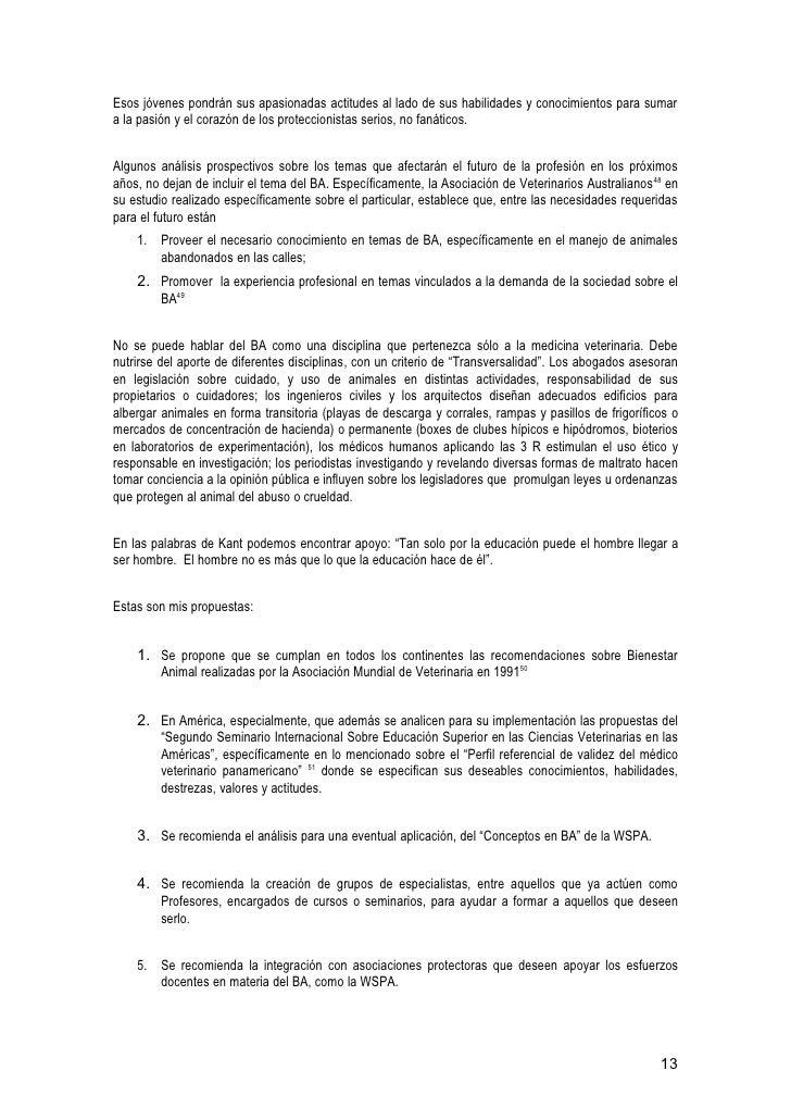 TEXTO COMPLETO) EL BIENESTAR DE LOS ANIMALES, UN CURRICULUM PARA SU …
