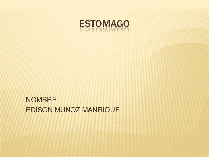 ESTOMAGONOMBREEDISON MUÑOZ MANRIQUE
