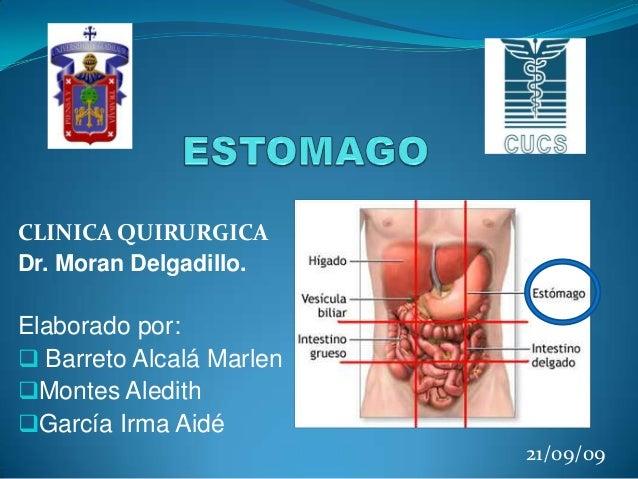 CLINICA QUIRURGICA Dr. Moran Delgadillo.  Elaborado por:  Barreto Alcalá Marlen Montes Aledith García Irma Aidé 21/09/0...
