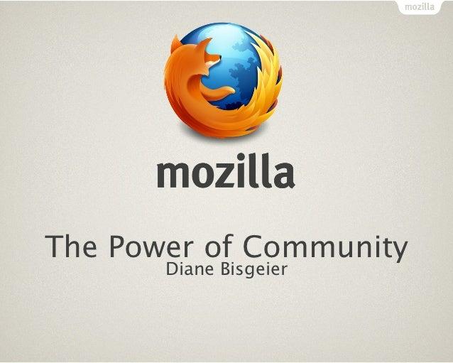 The Power of Community       Diane Bisgeier