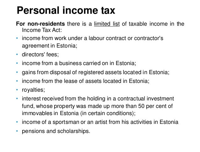 Estonian Taxes And Tax Structure As Of 1 July 2017