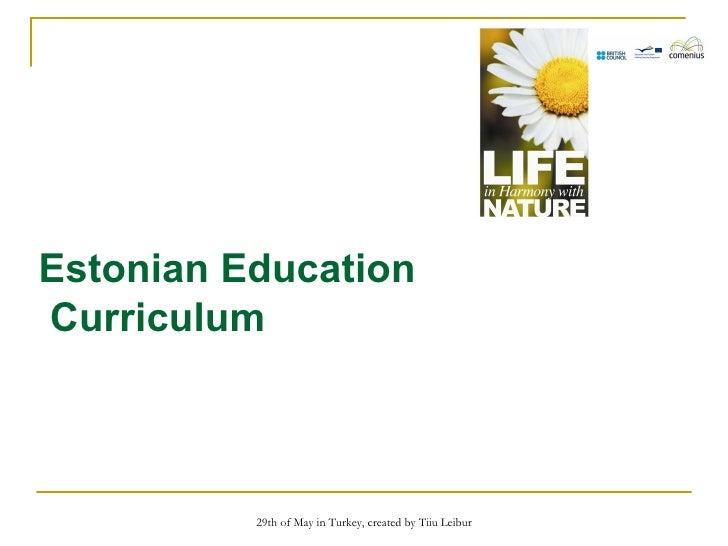Estonian Education Curriculum