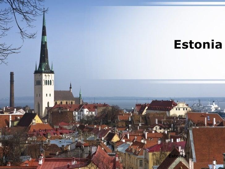 Estonia Country Powerpoint Presentation Content