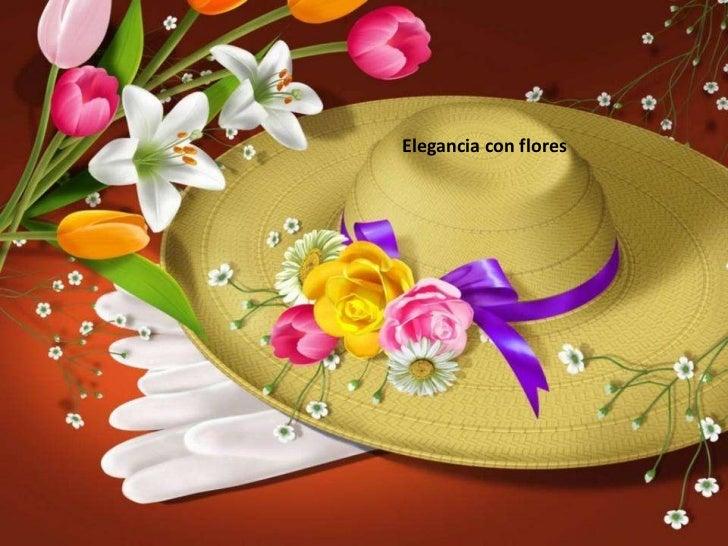 Elegancia con flores  <br />