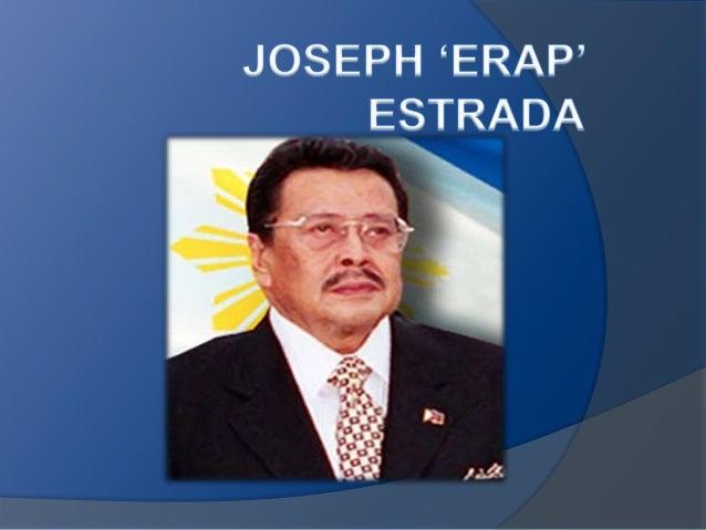 Mga Programa Ni Dating Pangulong Joseph Estrada