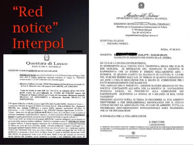 """""""domanda di arresto provvisorio"""" """"match"""" del sistema informativo (""""red notice"""") perquisizione e arresto PG habeas corpus 4..."""