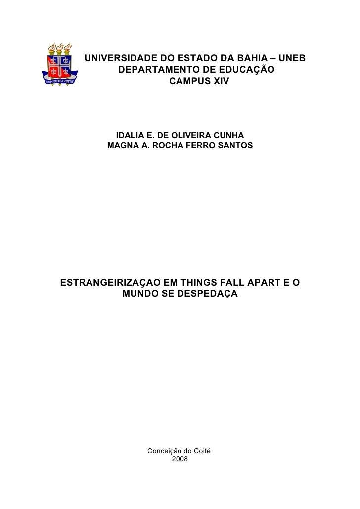 1    UNIVERSIDADE DO ESTADO DA BAHIA – UNEB          DEPARTAMENTO DE EDUCAÇÃO                  CAMPUS XIV         IDALIA E...