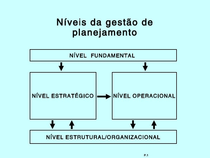 Níveis da gestão de         planejamento          NÍVEL FUNDAMENTALNÍVEL ESTRATÉGICO    NÍVEL OPERACIONAL   NÍVEL ESTRUTUR...