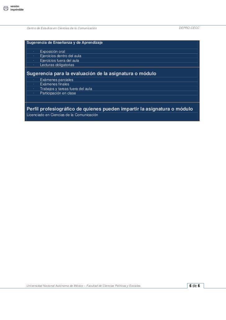 Centro de Estudios en Ciencias de la Comunicación                                     DEPRO-CECCSugerencia de Enseñanza y ...