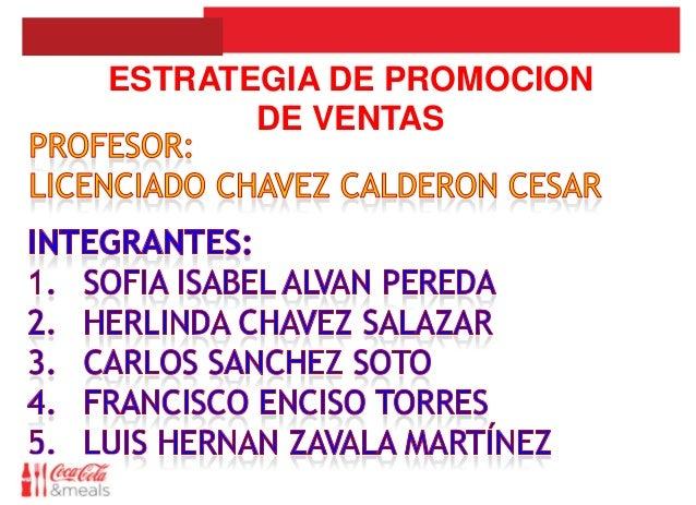 ESTRATEGIA DE PROMOCION       DE VENTAS