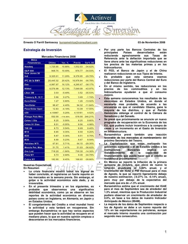 Ernesto O´Farrill Santoscoy bursametrica@consultant.com                                          03 de Noviembre 2008   Es...