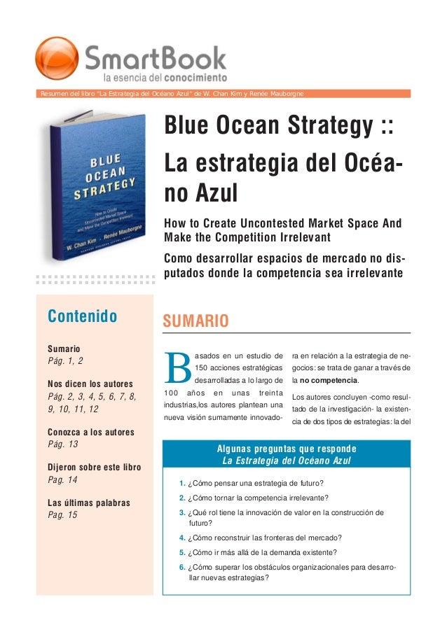 """Resumen del libro """"La Estrategia del Océano Azul"""" de W. Chan Kim y Renée Mauborgne Blue Ocean Strategy :: La estrategia de..."""