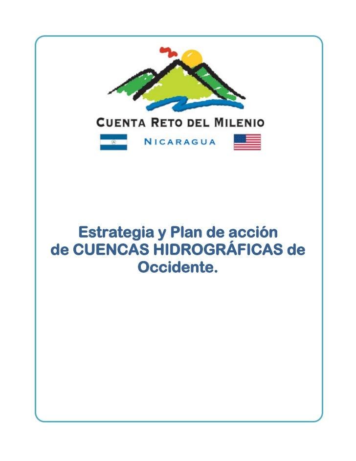 Estrategia y Plan de acciónde CUENCAS HIDROGRÁFICAS de           Occidente.