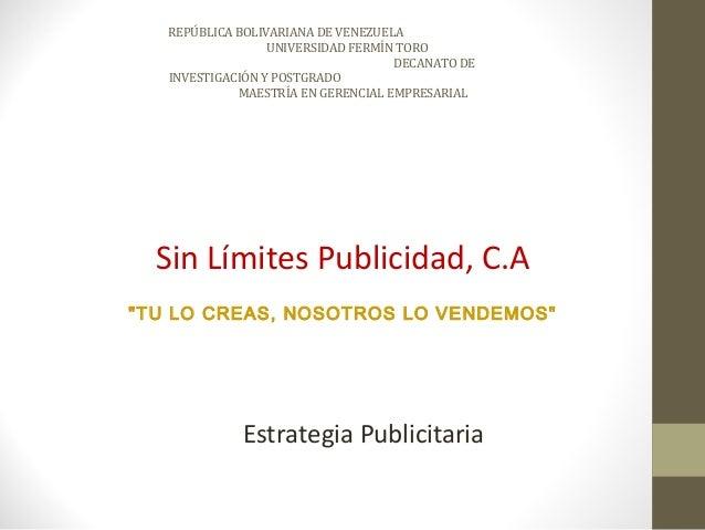 REPÚBLICA BOLIVARIANA DE VENEZUELA                  UNIVERSIDAD FERMÍN TORO                                    DECANATO DE...