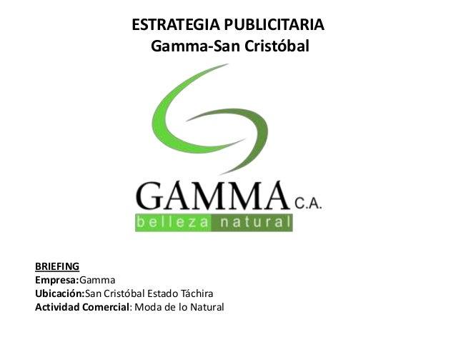 Estrategia Publicitaria Para La Empresa Gamma San Crist Bal