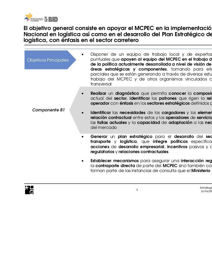 Estrategia reforzar logistica componente b Slide 3