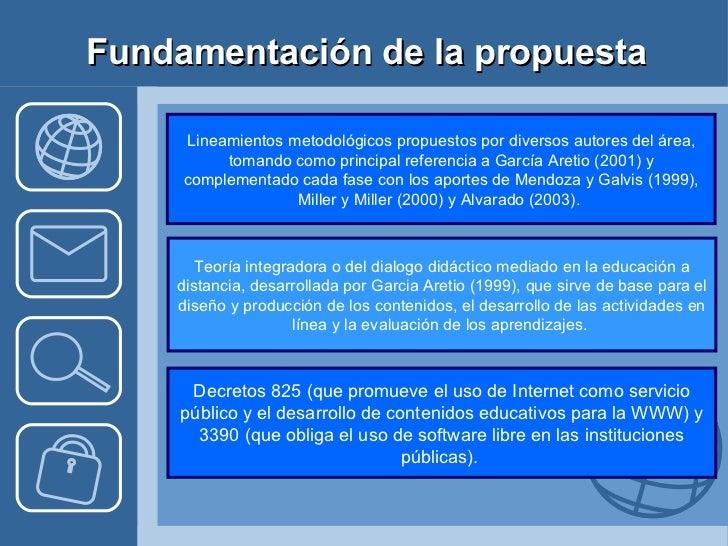 Fundamentación de la propuesta Lineamientos metodológicos propuestos por diversos autores del área, tomando como principal...