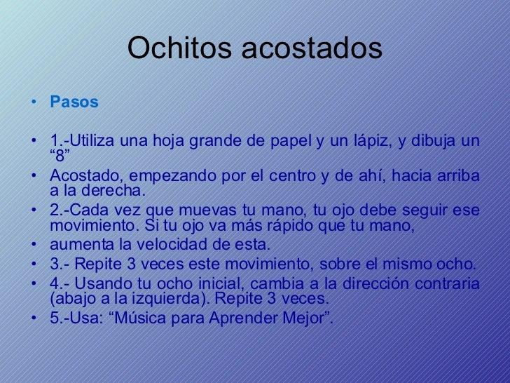 """Ochitos acostados <ul><li>Pasos </li></ul><ul><li>1.-Utiliza una hoja grande de papel y un lápiz, y dibuja un """"8""""  </li></..."""