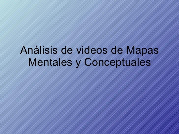 Análisis de videos de Mapas Mentales y Conceptuales