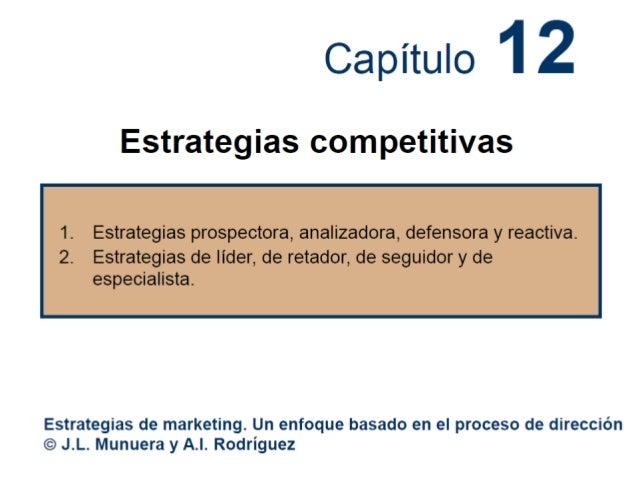 Capítulo 12. Estrategias competitivas