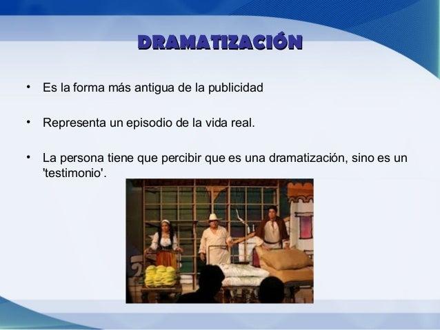 TESTIMONIO• Si no se percibe que es una dramatización  entonces es un testimonio.• Por ejemplo de unas figuras o personas ...