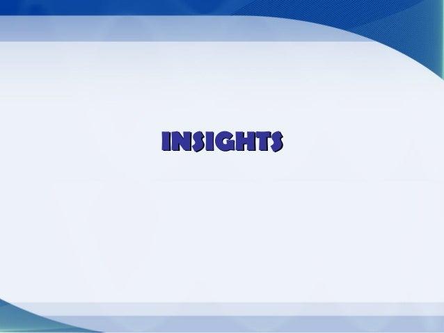 INSIGHTS•   Se relaciona con la publicidad emocional y ha revolucionado    las técnicas para conocer al consumidor de mane...