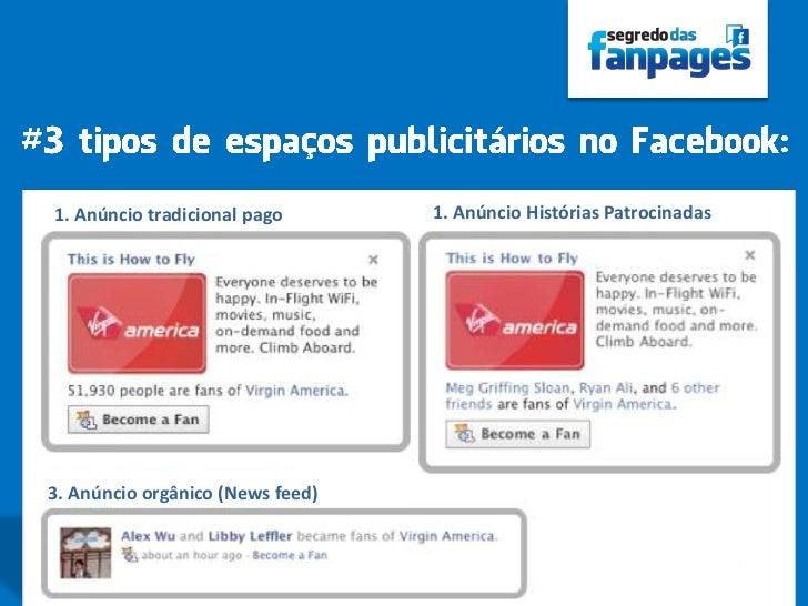 1. Anúncio tradicional pago       1. Anúncio Histórias Patrocinadas3. Anúncio orgânico (News feed)                        ...