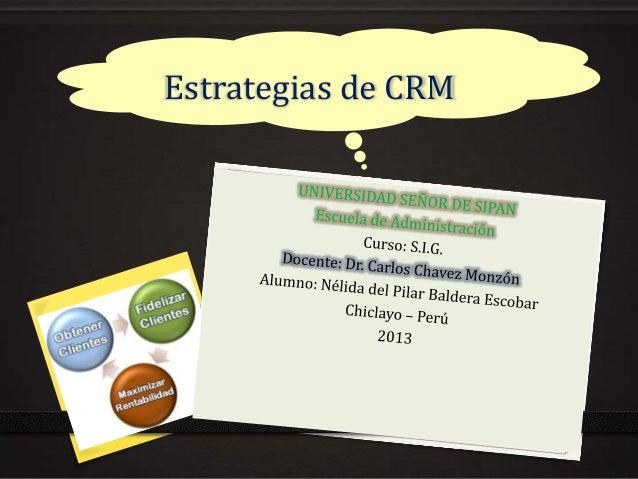 Estrategias de CRM