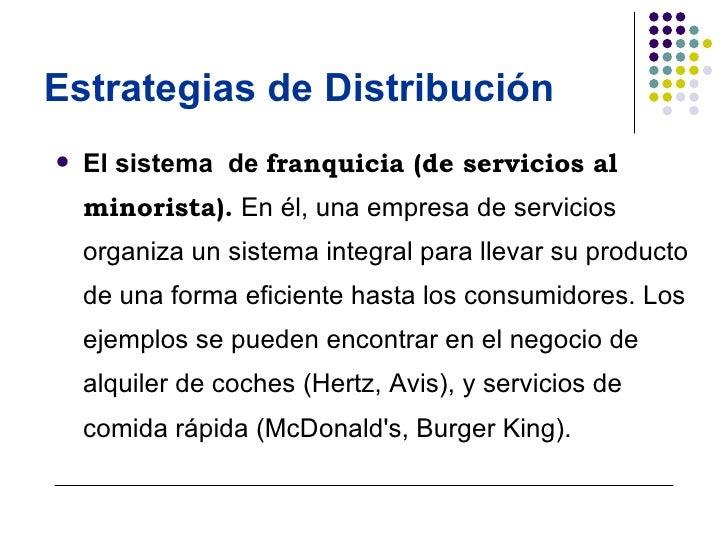 Estrategias de distribucion for Distribucion de oficinas en una empresa