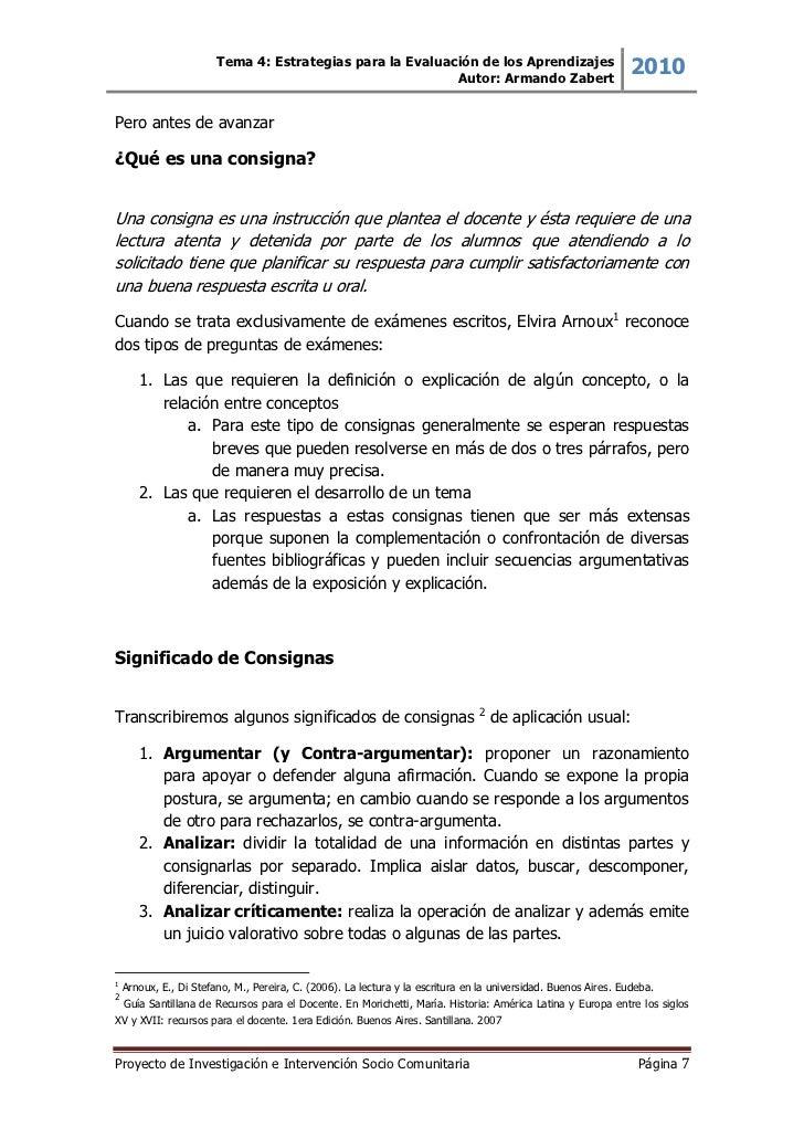 Tema 4: Estrategias para la Evaluación de los Aprendizajes                                                           Autor...