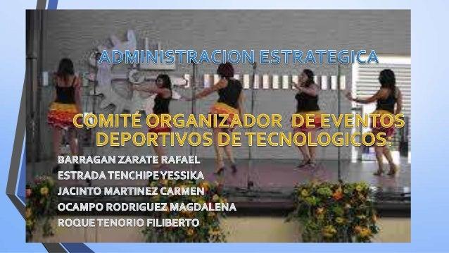 ESTRATEGIAS DE EVENTOS DEPORTIVOS La organización de un evento deportivo depende de factores externos e internos, que infl...