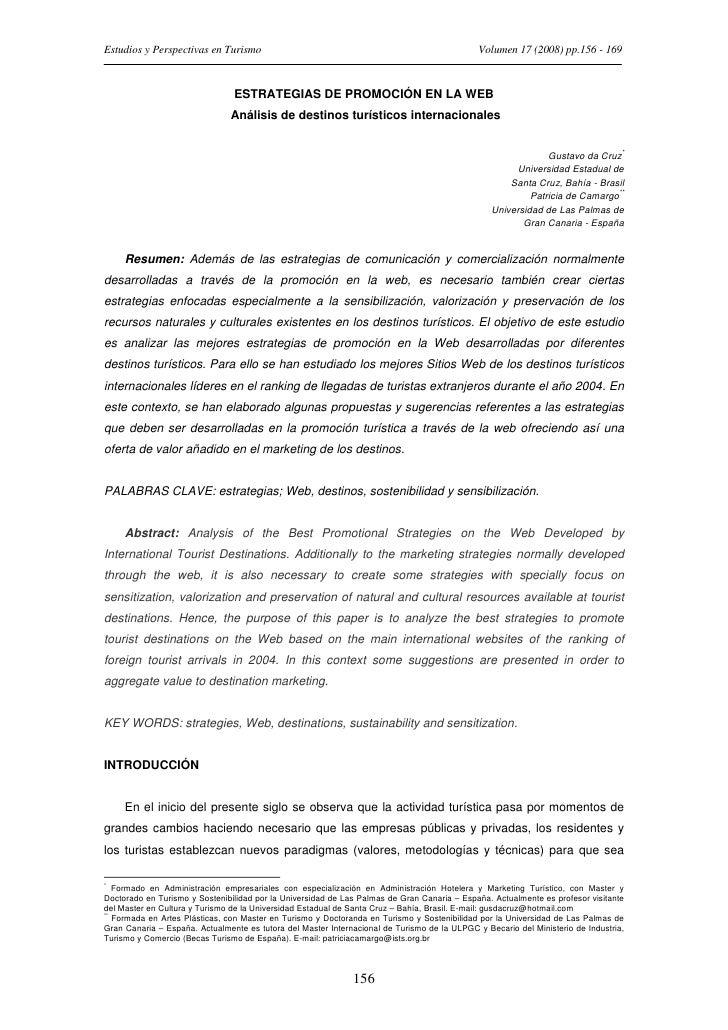 Estudios y Perspectivas en Turismo                                                            Volumen 17 (2008) pp.156 - 1...