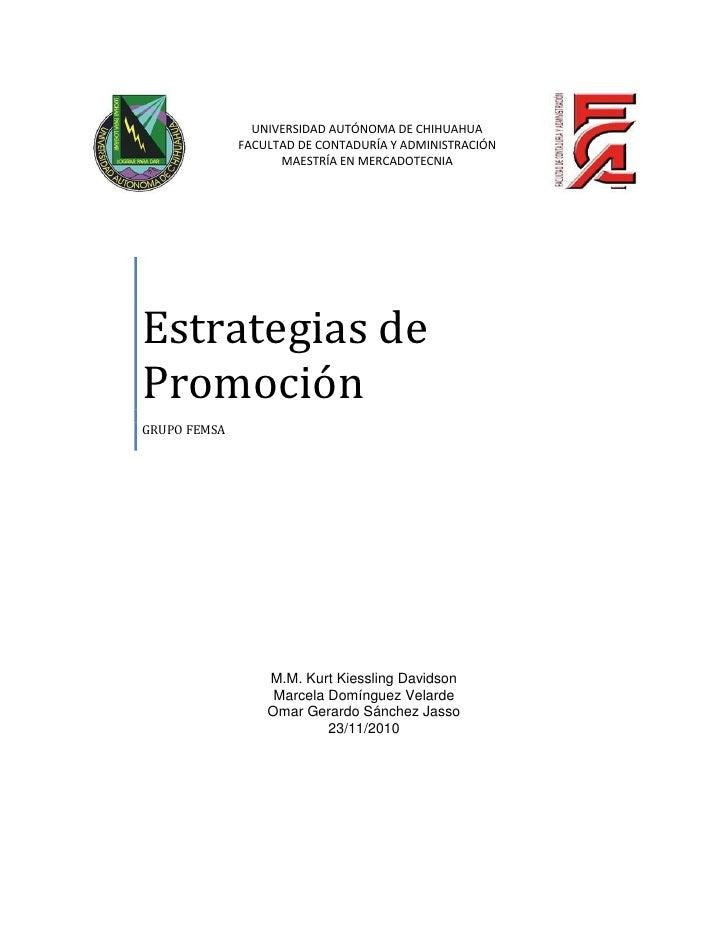 UNIVERSIDAD AUTÓNOMA DE CHIHUAHUA              FACULTAD DE CONTADURÍA Y ADMINISTRACIÓN                    MAESTRÍA EN MERC...
