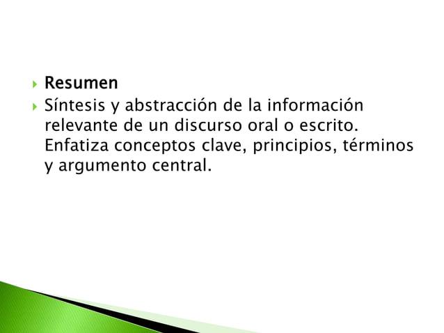  Organizador previo Información de tipo introductorio ycontextual. Tiende un puente cognitivo entrela información nueva ...