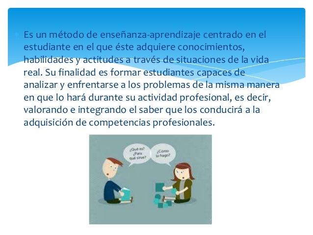  Es un método de enseñanza-aprendizaje centrado en el estudiante en el que éste adquiere conocimientos, habilidades y act...