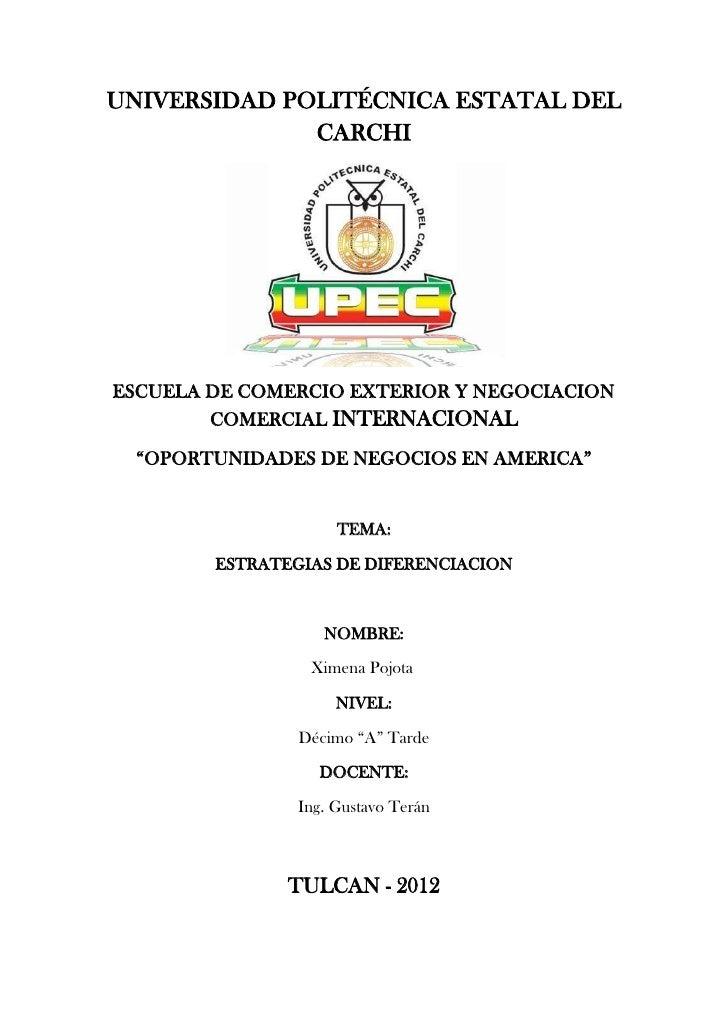 UNIVERSIDAD POLITÉCNICA ESTATAL DEL              CARCHIESCUELA DE COMERCIO EXTERIOR Y NEGOCIACION        COMERCIAL INTERNA...