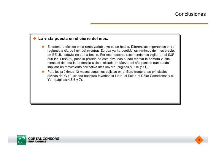 Estrategia Semanal de Cortal Consors Slide 2