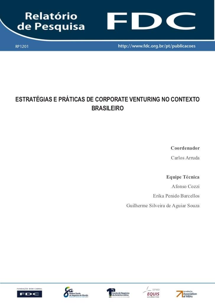 RP1201   Gestão Estratégica do Suprimento e o Impacto no           Desempenho das        Empresas BrasileirasEstratégias e...