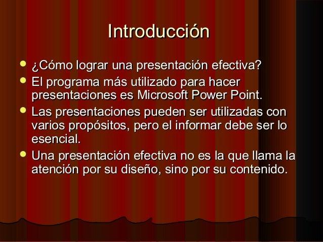 Estrategias fundamentales para una presentación efectiva en Power Point Slide 2