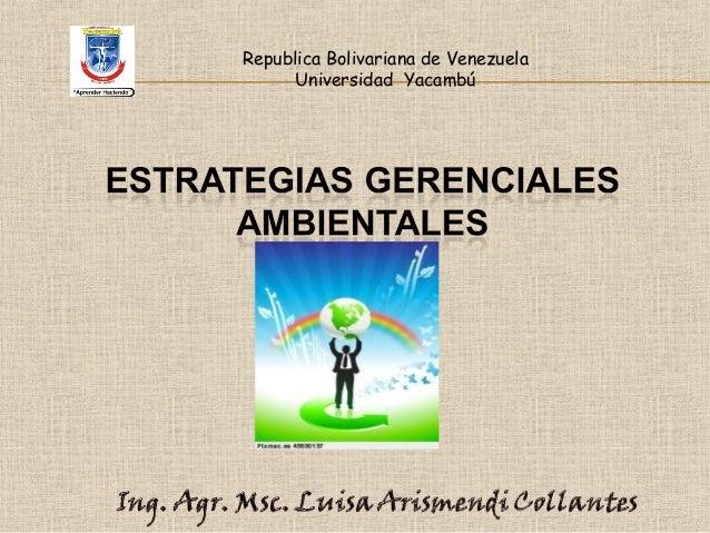 Republica Bolivariana de Venezuela Universidad Yacambú