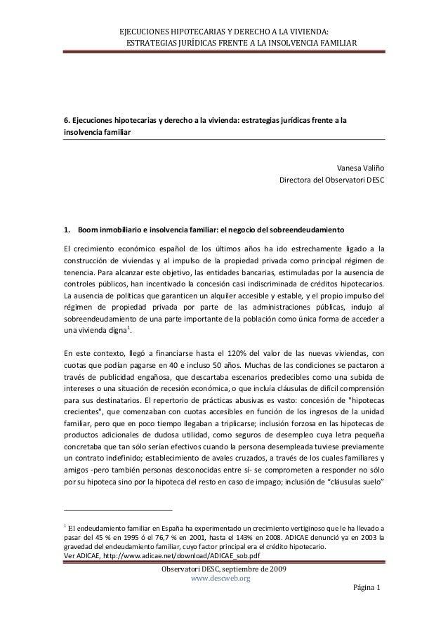 EJECUCIONESHIPOTECARIASYDERECHOALAVIVIENDA:ESTRATEGIASJURÍDICASFRENTEALAIN...