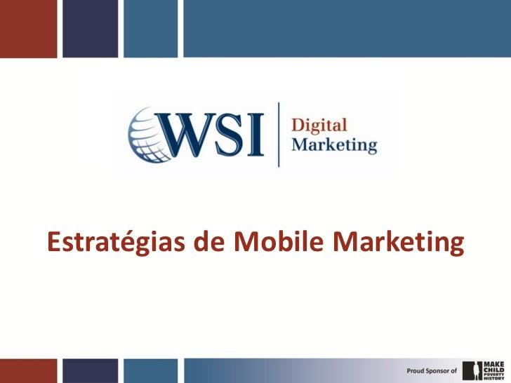 Estratégias de Mobile Marketing