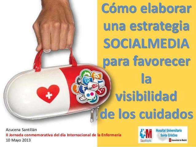 Cómo elaboraruna estrategiaSOCIALMEDIApara favorecerlavisibilidadde los cuidadosAzucena SantillánII Jornada conmemorativa ...