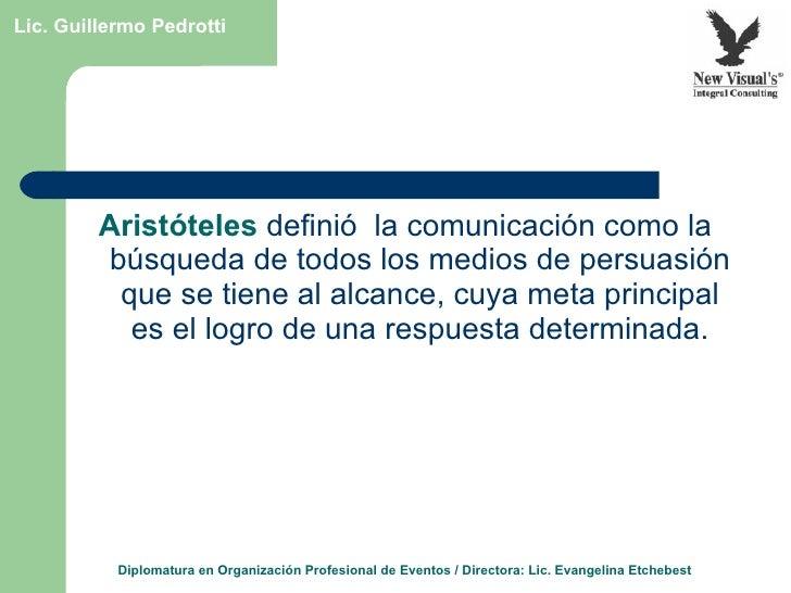 Estrategias para la comunicación y la difusión de eventos Slide 2