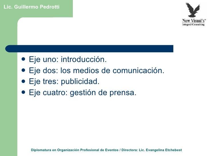 Estrategias para la comunicación y la difusión de eventos Slide 3