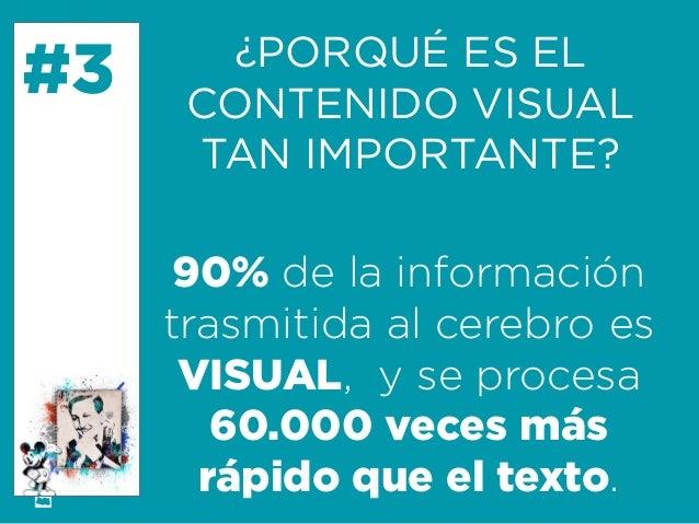 Formación Libre @ortizan  #3  ¿PORQUÉ ES EL  CONTENIDO VISUAL  TAN IMPORTANTE?  90% de la información trasmitida al cerebr...