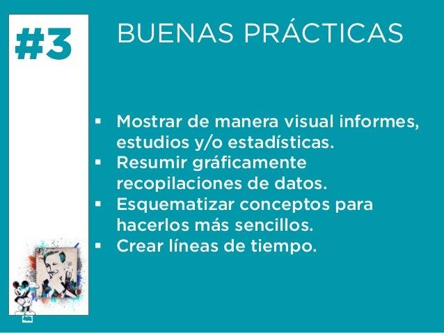 Formación Libre @ortizan  #3  BUENAS PRÁCTICAS    Mostrar de manera visual informes, estudios y/o estadísticas.    Resum...