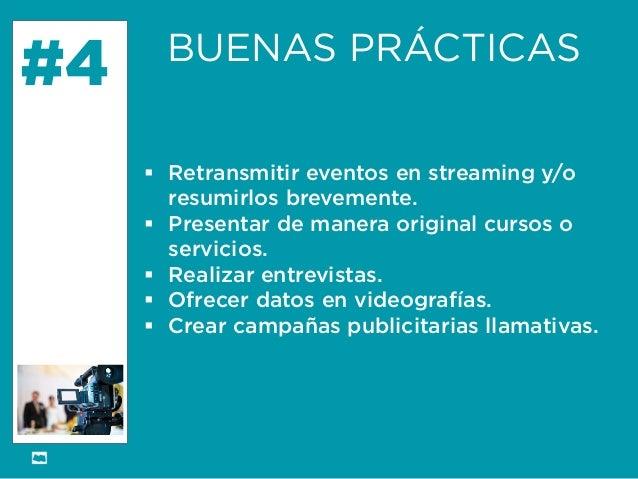 Formación Libre @ortizan  #4  BUENAS PRÁCTICAS    Retransmitir eventos en streamingy/o resumirlos brevemente.    Present...